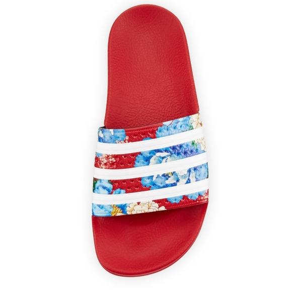 timeless design 31ffa 83004 adidas Shoes - Adidas❤ Chita Red Floral Slides 7